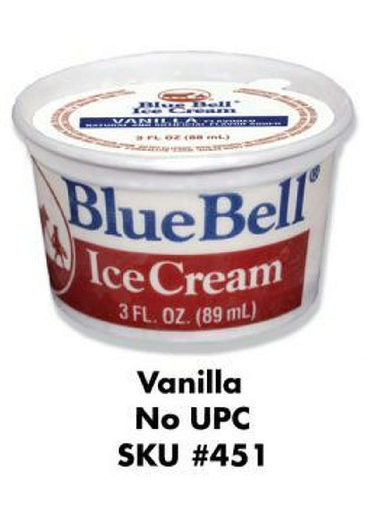 These items have been recalled by Blue Bell Creameries in Brenham, Texas as part of a listeria outbreak.