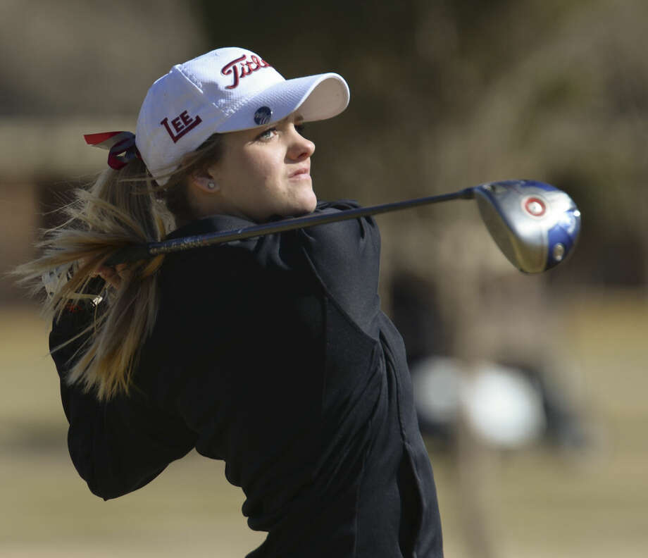 Lee High's Chloe Bice watches her shot Friday 02-26-16 at the Girls Tall City Golf Invitational. Tim Fischer/Reporter-Telegram Photo: Tim Fischer