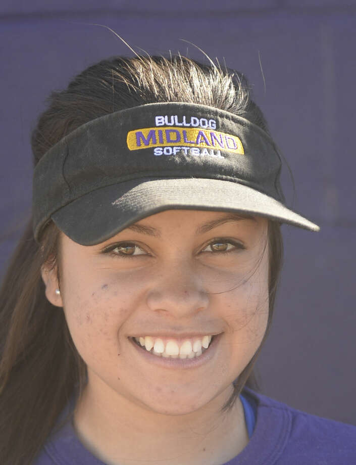 Midland High softball mugs 2016 - Abby Sanchez (5) James Durbin/Reporter-Telegram