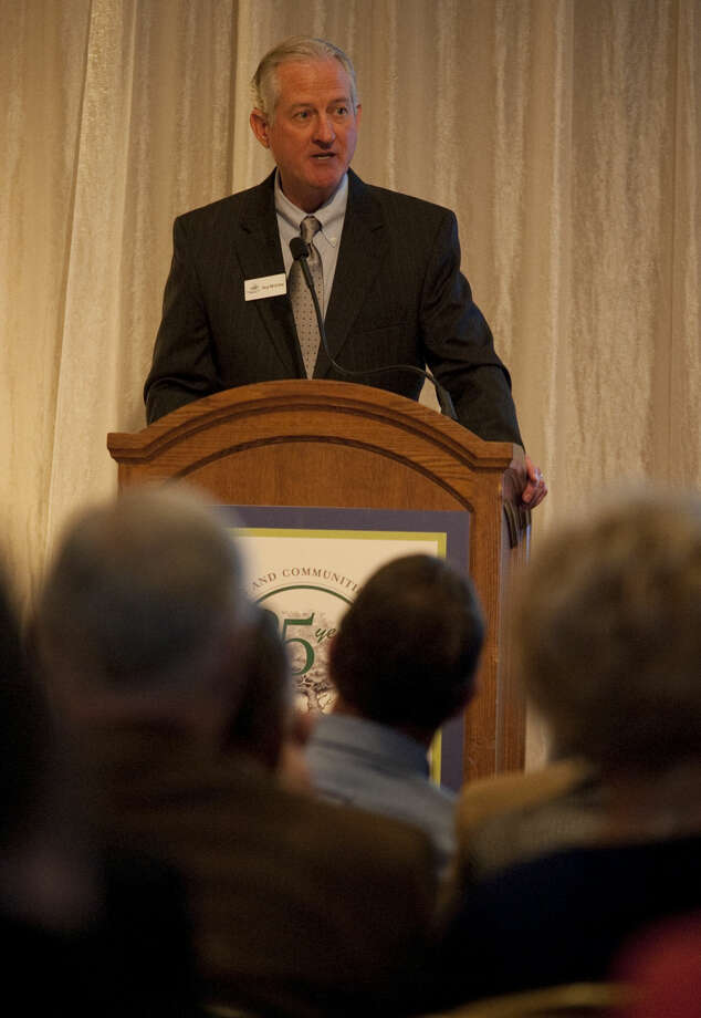 Guy McCrary president of PBAF announces the new Anniversary Endowment Fund at the Permian Basin Area Foundation 25th Anniversary celebration Thursday evening. Tim Fischer\Reporter-Telegram Photo: Tim Fischer