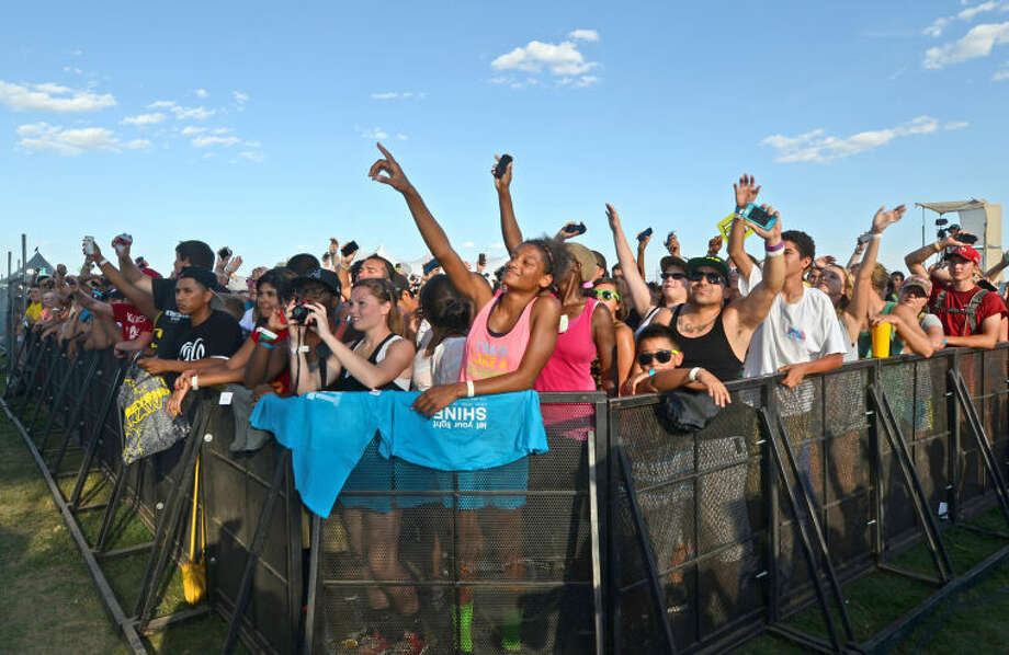 "Fans participate in a performance by the band ""Shonlock"" during Rock The Desert on Friday. James Durbin/Reporter-Telegram Photo: JAMES DURBIN"
