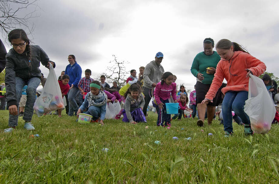 Easter Outreach and egg hunt hosted by Midland First Assembly on Saturday, April 4, 2015, at Hogan Park. James Durbin/Reporter-Telegram Photo: James Durbin