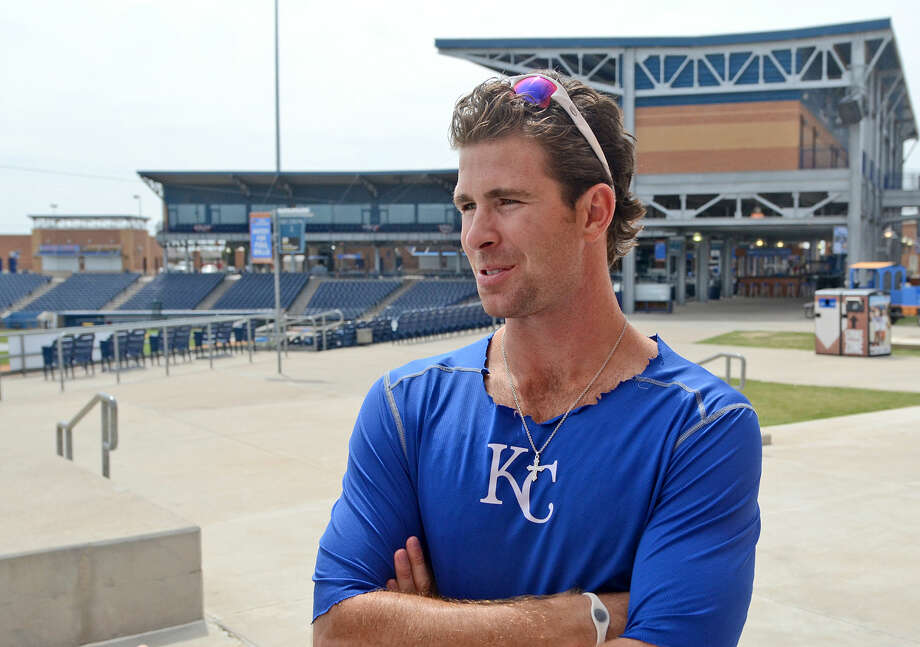 Reid Redman interviews with the media before team practice Friday, April 10, 2015 at Security Bank Ballpark. James Durbin/Reporter-Telegram Photo: James Durbin