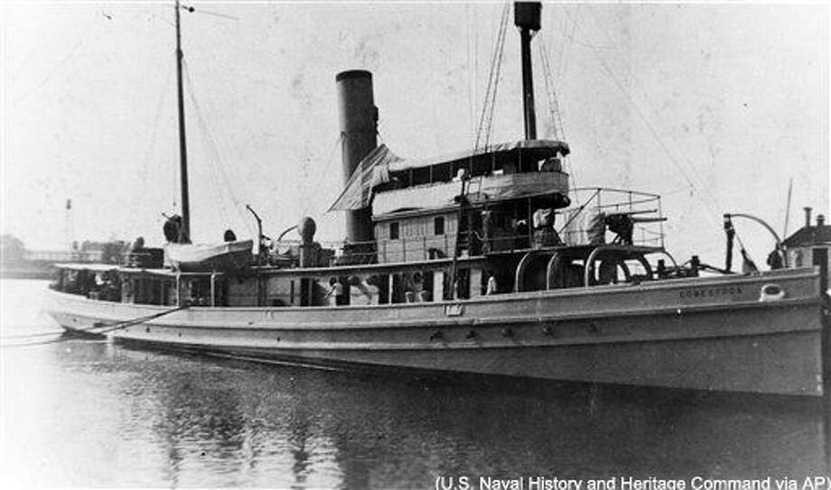 In this image provided by the U.S. Naval History and Heritage Command, the USS Conestoga (AT-54) is seen in San Diego, Calif, circa early 1921. A Navy tugboat that sank nearly a century ago has been found by a team of government researchers off the San Francisco coast, officials announced Wednesday, March 23, 2016. The USS Conestoga departed San Francisco Bay for Pearl Harbor in March 1921. But the boat never made it to Hawaii, and her 56-man crew was declared lost. The boat was never found, despite a search that covered hundreds of thousands of square miles and was the biggest air and sea search of its time. (U.S. Naval History and Heritage Command via AP) Photo: HOGP