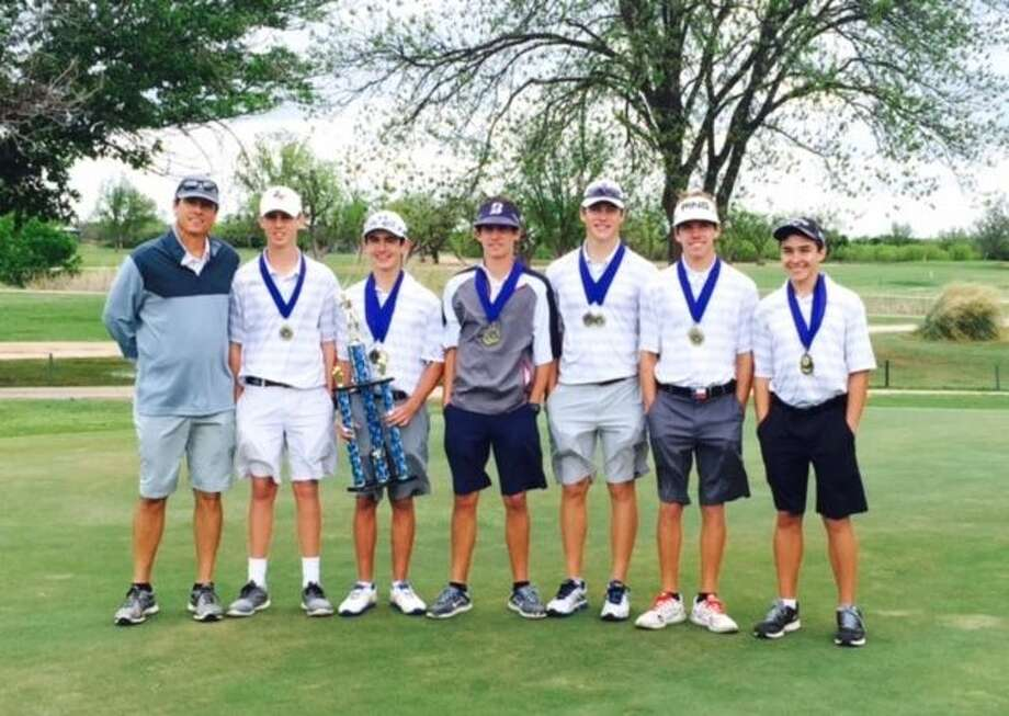 The Trinity boys golf team after winning the TAPPS 1-3A golf title in Abilene on Monday. Courtesy photo.