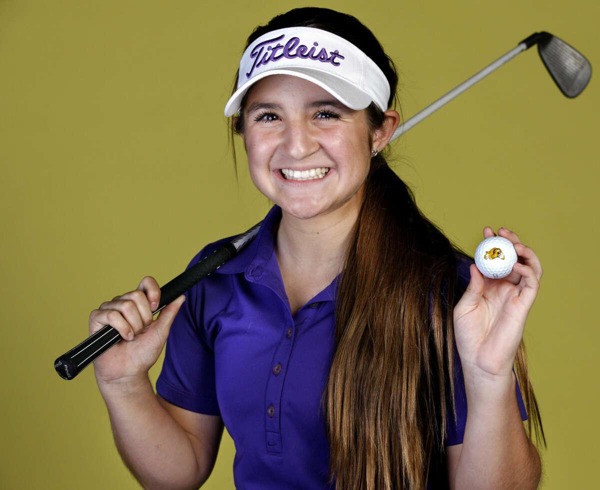 Midland High freshman golfer Faith DeLaGarza in portrait Wednesday, April 8, 2015, in the Reporter-Telegram studio. James Durbin/Reporter-Telegram