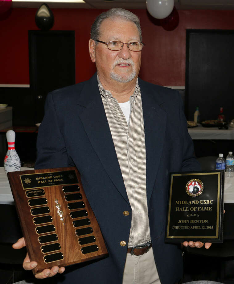 John Denton inagural member of the Midland USBC Hall of Fame, was inducted Sunday at Bowlero Lanes. Courtesy Photo.