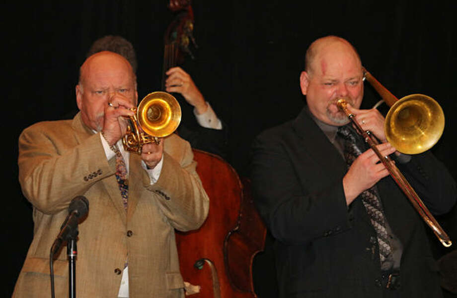 Cornetist Warren Vache and trombonist John Allred perform at the 2014 Jazz Party. Photo provided by West Texas Jazz Society