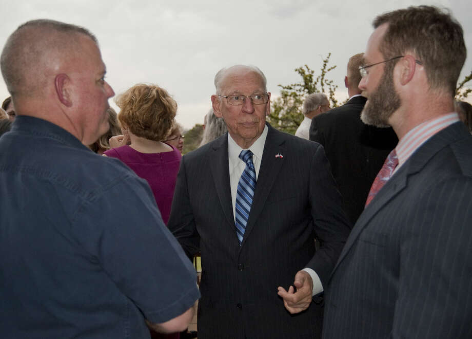 Rafael Cruz, father of Ted Cruz, speaks with supporters Thursday, 4-16-15, before a dinner and speech for Texas Right to Life at Midland Country Club. Tim Fischer\Reporter-Telegram Photo: Tim Fischer