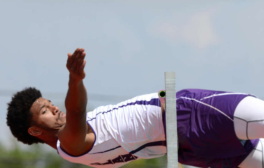 Courtney McMaryion competes in the high jump during the District 3-6A Track and Field Championships on Thursday, April 16, 2015, at Memorial Stadium James Durbin/Reporter-Telegram Photo: James Durbin