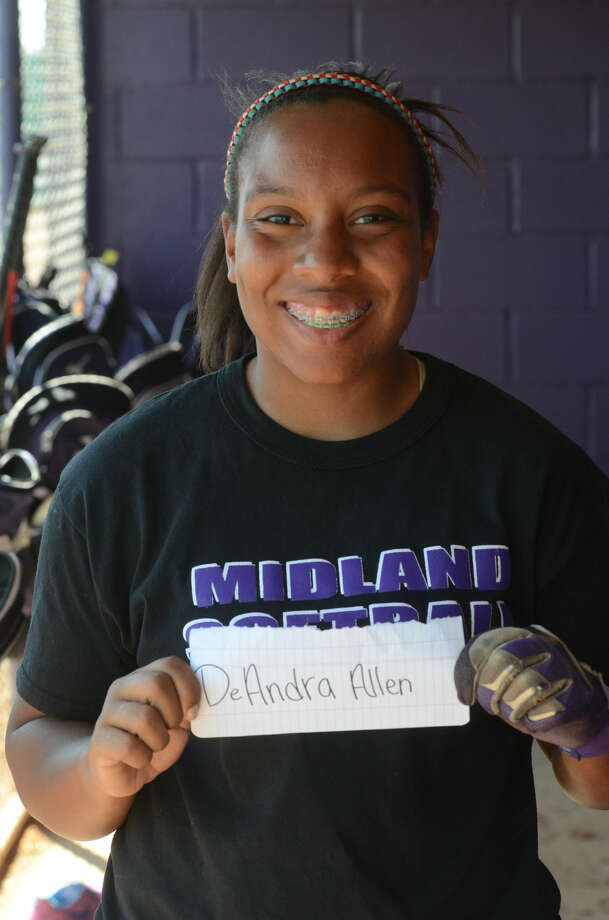 DeAndra Allen --- MHS girls softball mugs, Wednesday, March 25, 2015. James Durbin/Reporter-Telegram