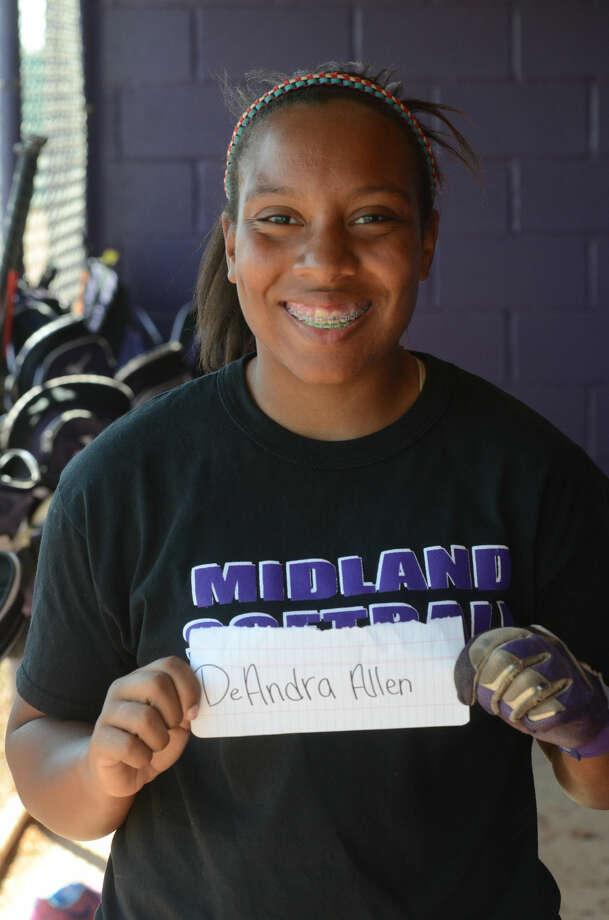 DeAndra Allen --- MHS girls softball mugs, Wednesday, March 25, 2015. James Durbin/Reporter-Telegram
