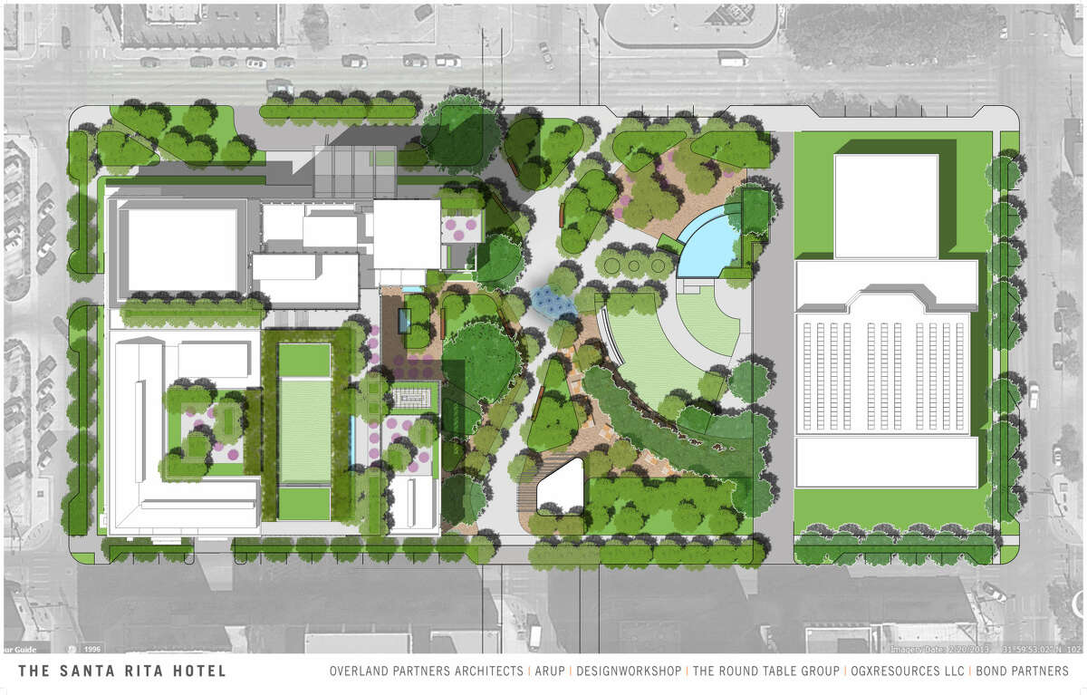 Overland Partners presented renderings of the proposed Hotel Santa Rita to City Council on Tuesday.