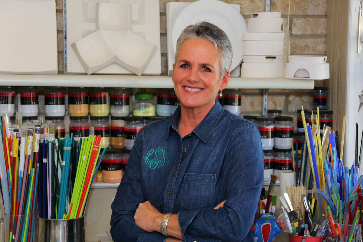 Midland glass artist Leslie Slaughter is the Celebration of the Arts 2016 Distinguished Artist. Photo by Curtis Routh