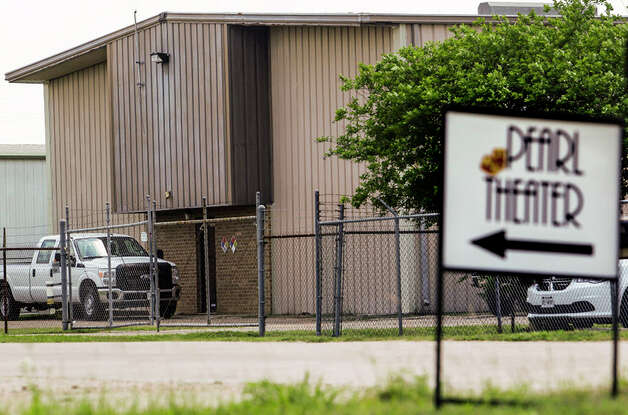 A sign for the Pearl Theater sits across the road from Degesch America Inc Houston Division, one of the businesses on the list of high harm facilities, Thursday, April 14, 2016 in Houston. ( Michael Ciaglo / Houston Chronicle ) Photo: Houston Chronicle