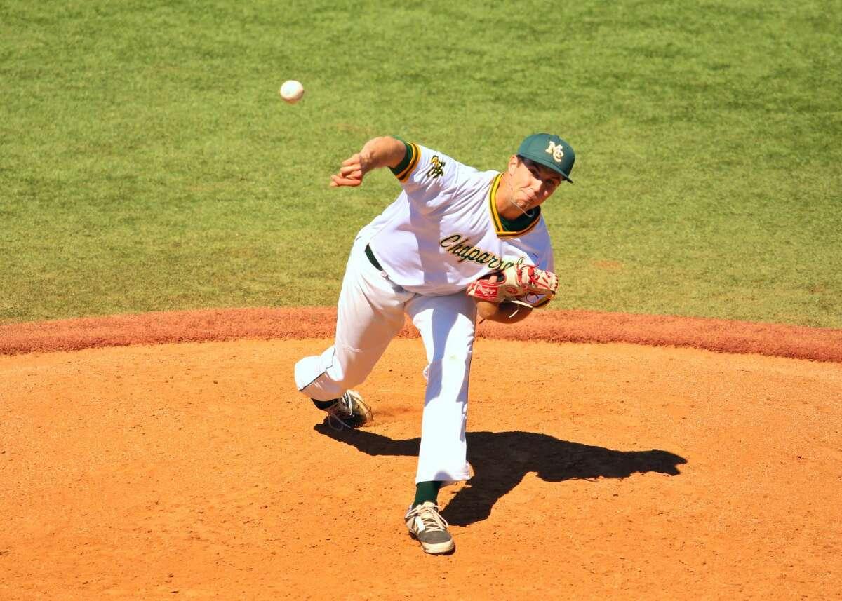 Midland College pitcher Brady Moxham throws versus Western Texas College, Saturday at Christensen Stadium. Forrest Allen | Midland College