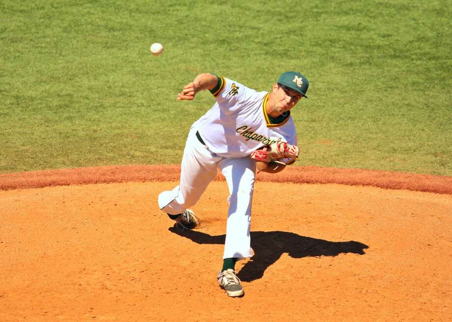 Midland College pitcher Brady Moxham throws versus Western Texas College, Saturday at Christensen Stadium. Forrest Allen | Midland College Photo: Forrest Allen | Midland College