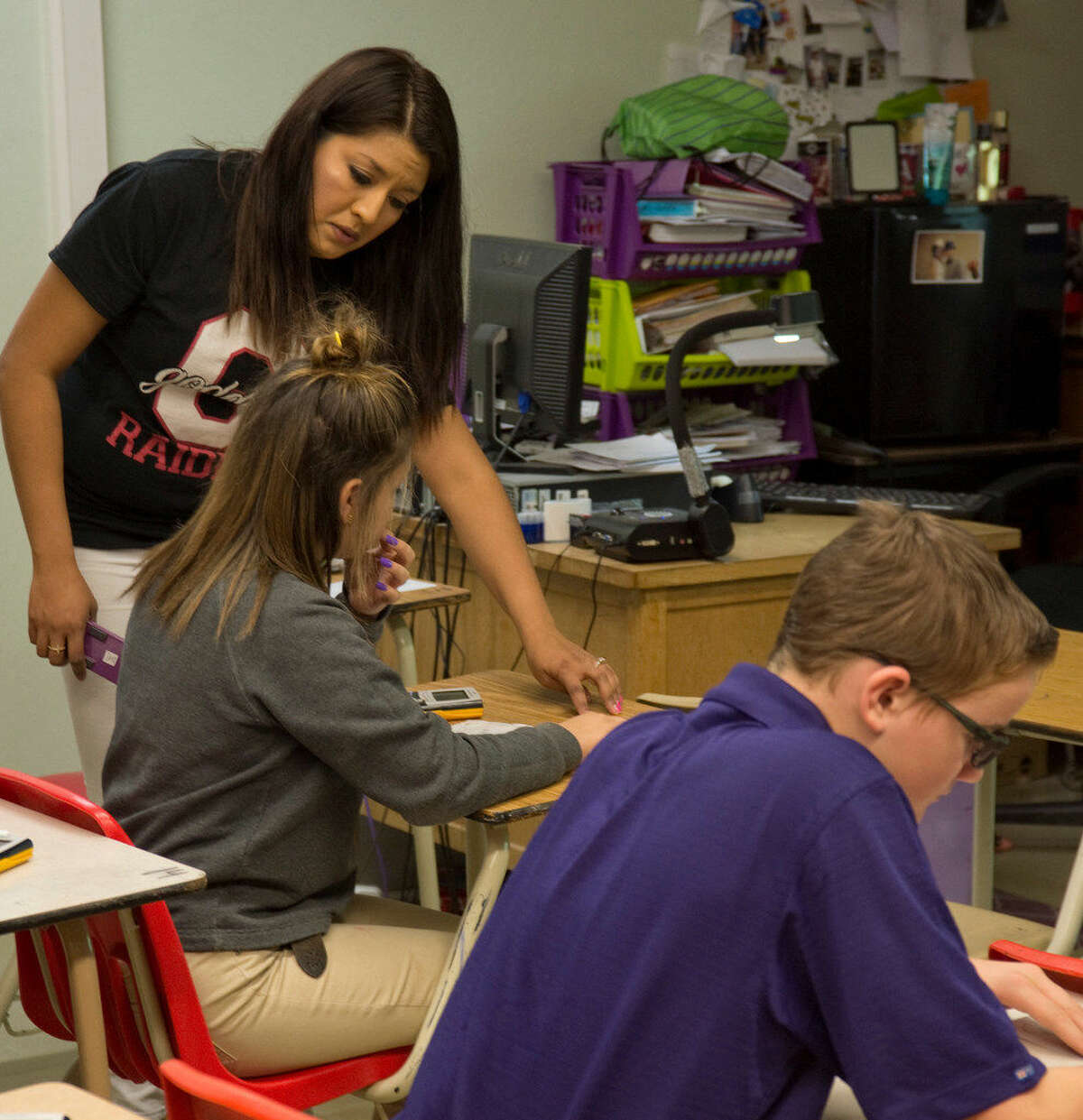 Malhi Armijo, Classroom Pioneer, for all the work she does teaching 8th grade math at Goddard Junior High and other activities with students. Thursday 03-24-16 Tim Fischer\Reporter-Telegram