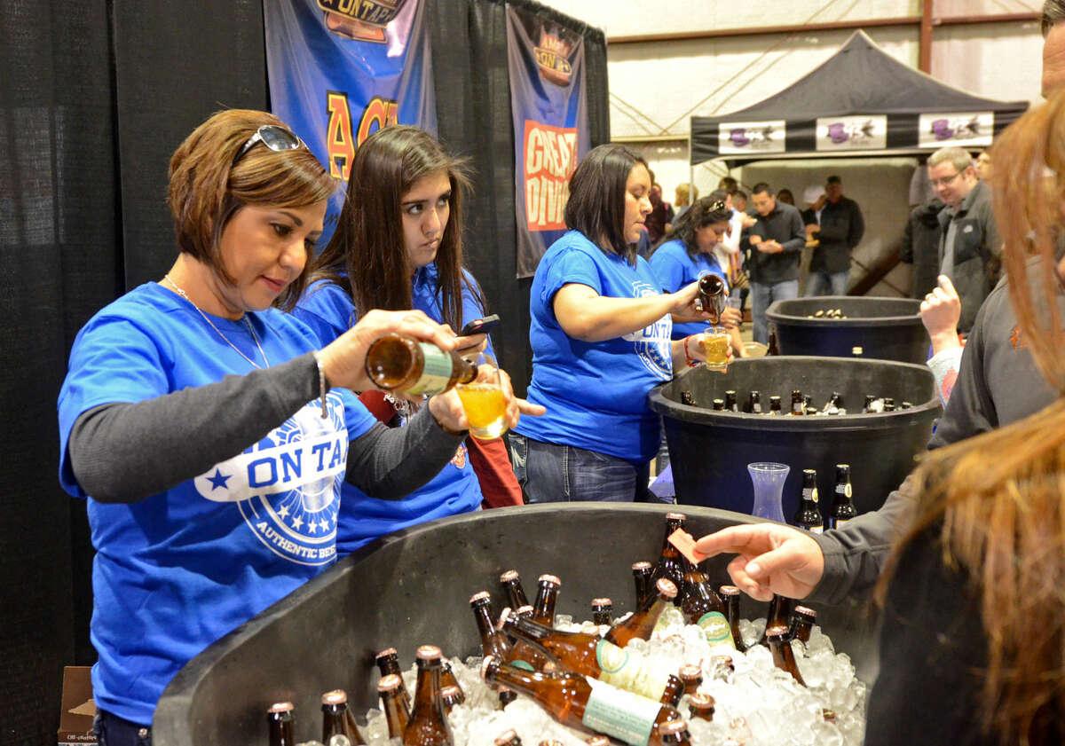 Midland on Tap beer festival Saturday, Jan. 17, 2015 at the CAF. James Durbin/Reporter-Telegram