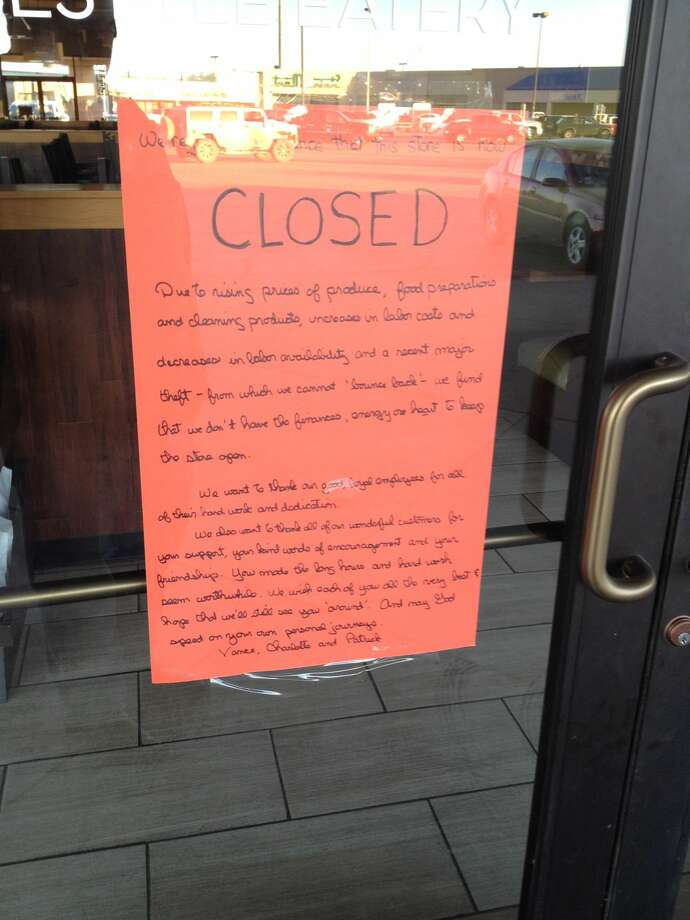 As of Tuesday, this was the sign on Souper Salad's door.