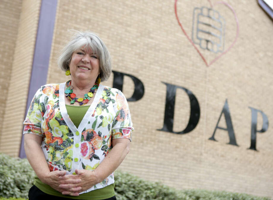 Michele Savage, executive director of the Palmer Drug Abuse Program, poses for portrait outside the building Friday. James Durbin/Reporter-Telegram Photo: JAMES DURBIN