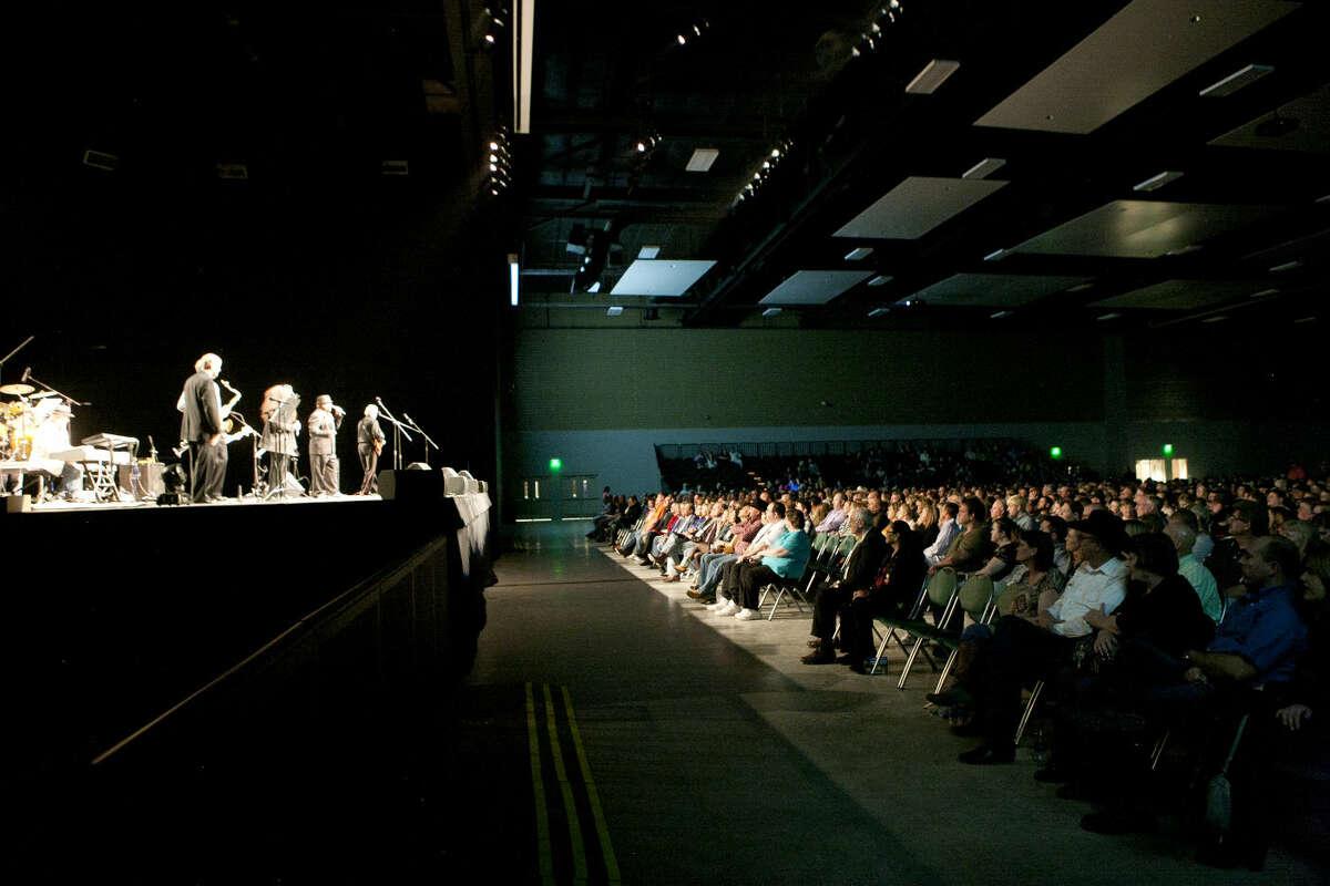 Opening night at the Horseshoe Pavilion, Saturday, Feb. 7, 2015. James Durbin/Reporter-Telegram