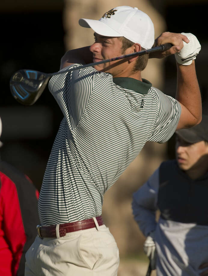 Midland College's Hudson Ross follows his shot Tuesday 03-15-16 during the second day at Green Tree Country Club in the Omega Treating Chemicals Invitational. Tim Fischer\Reporter-Telegram Photo: Tim Fischer