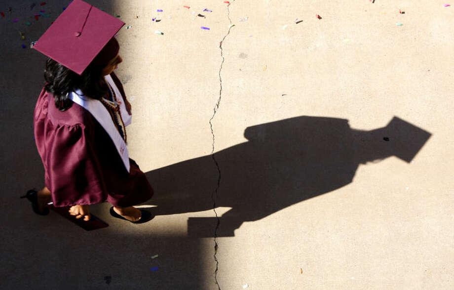 Lee High School graduation ceremony Saturday at Chaparral Center. James Durbin/Reporter-Telegram Photo: James Durbin