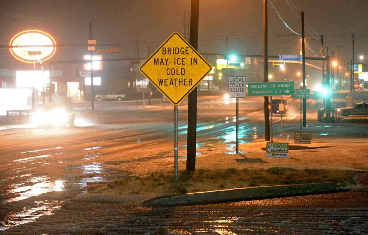 FILE PHOTO: Winter-weather conditions are forecast across most of the Texas Department of Transportation's 12-county Odessa District through Wednesday afternoon. The National Weather Service says there is a possibility of ice and snow accumulations in the area.
