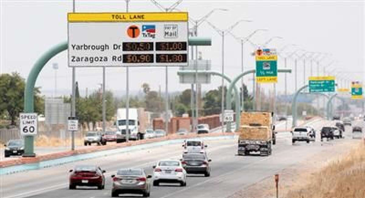 Times file photo: Vehicles head west on the Cesar Chavez Border Highway.