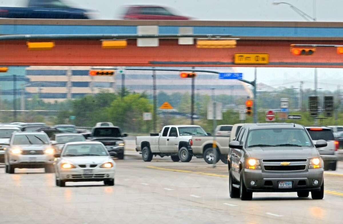 Traffic on Big Spring/Highway 349 heading north at the Loop 250 away from Midland Thursday. James Durbin/Reporter-Telegram
