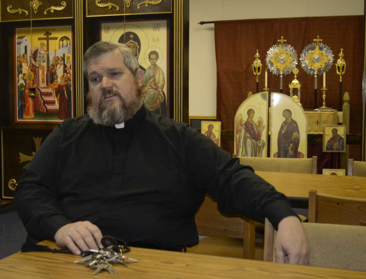 Father Mark Telschow with Holy Cross Orthodox Church. Tim Fischer\Reporter-Telegram