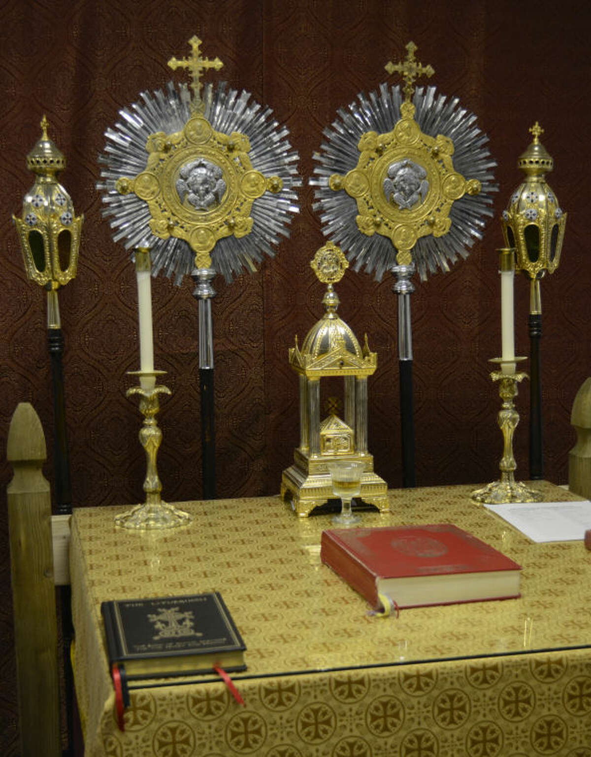 Symbols and the alter at Holy Cross Orthodox Church. Tim Fischer\Reporter-Telegram