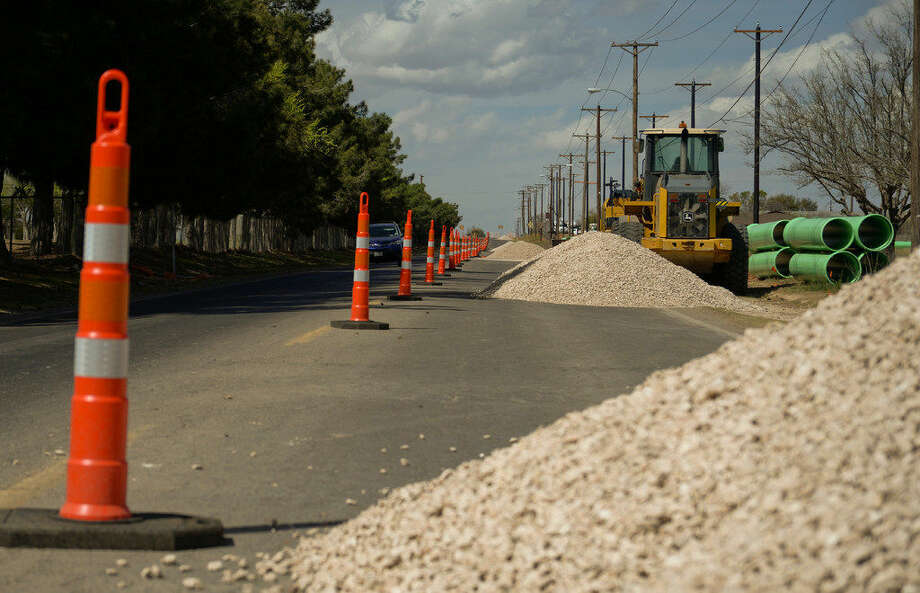 Texas Department of Transportation's Fairgrounds Road widening project began Feb. 29. The northbound lane is closed from East Pine Avenue to Loop 250, resulting in a one-way street for southbound traffic and a detour for northbound traffic. This will continue throughout construction, according to city spokeswoman Sara Bustilloz. The project will widen Fairgrounds Road from two lanes to five lanes from Pecan Avenue to Loop 250. The result will be a continuous five-lane roadway from Business Interstate 20 to Loop 250. The project will include new traffic signals, crosswalks and pedestrian ramps at the Fairgrounds Road and Wadley Avenue intersection. It will provide an off-street hike and bike path on the west side of, and parallel to, Fairgrounds Road north of Wadley Avenue, Bustilloz said.Tim Fischer\Reporter-Tel­egram Photo: Tim Fischer\Reporter-Tel­egram