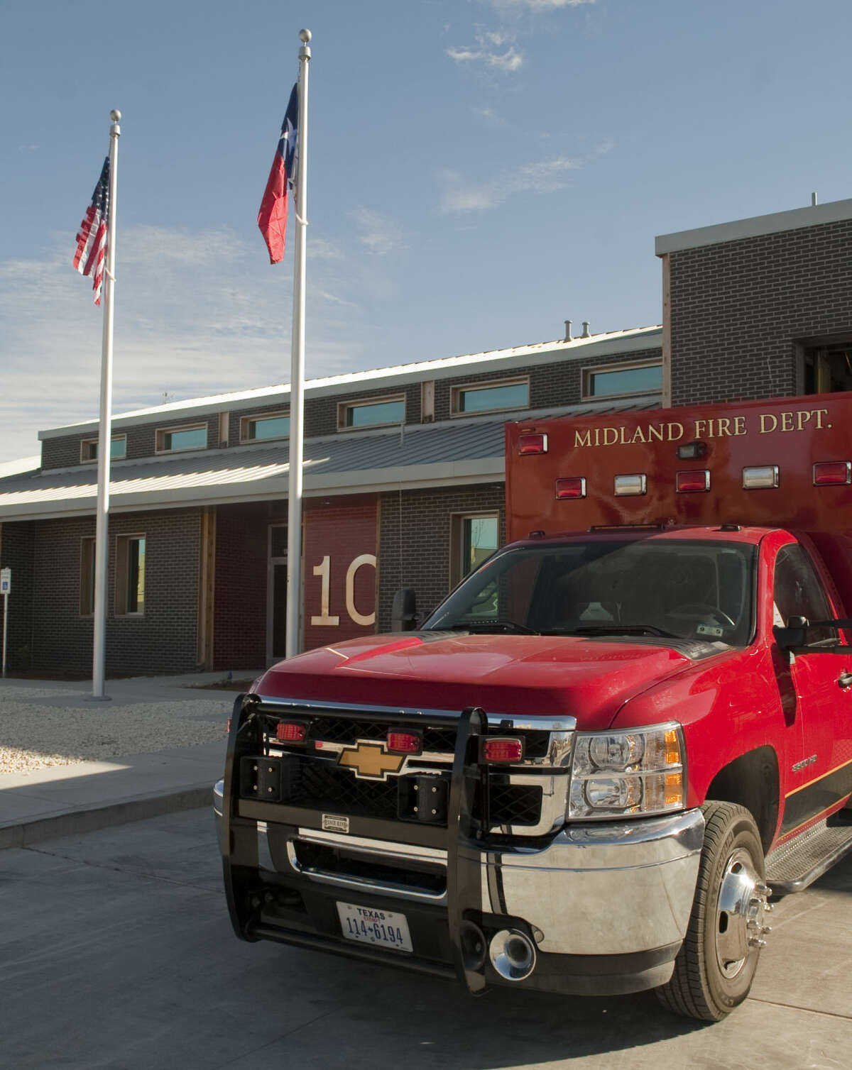 New fire station, Station 10 at 4501 Sinclair Ave. Fire Station 10 is the first Midland Fire Department station to be built in 30 years. Fire Stations 4 and 9 were built in 1984. 7. The station has an expected 50-year life. Tim Fischer\Reporter-Telegram