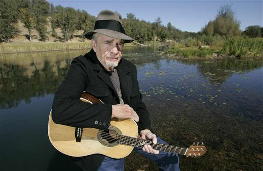 FILE - In this Oct. 2, 2007 file photo, Merle Haggard poses at his ranch at Palo Cedro, Calif. Haggard died of pneumonia, Wednesday, April 6, 2016, in Palo Cedro, Calif. He was 79. (AP Photo/Rich Pedroncelli, FIle) Photo: Rich Pedroncelli