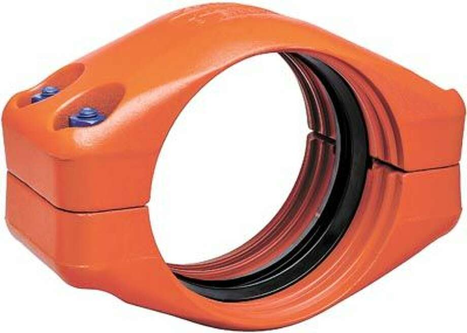 """The new Victaulic Style 908 coupling joins 8"""" and larger diameter double-grooved HDPE pipe. Call Victaulic at 432-332-1480 to learn more."""