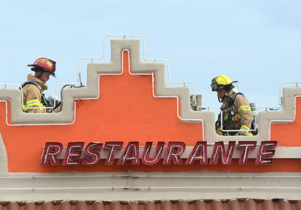 Midland emergency personnel respond to a kitchen fire at La Mision on S. Big Spring Street on Tuesday, March 31, 2015. James Durbin/Reporter-Telegram
