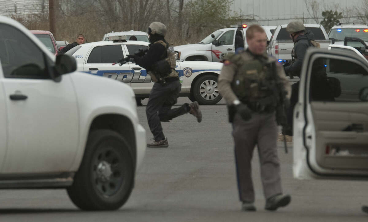 Midland police and SWAT units respond to an armed subject earlier this month