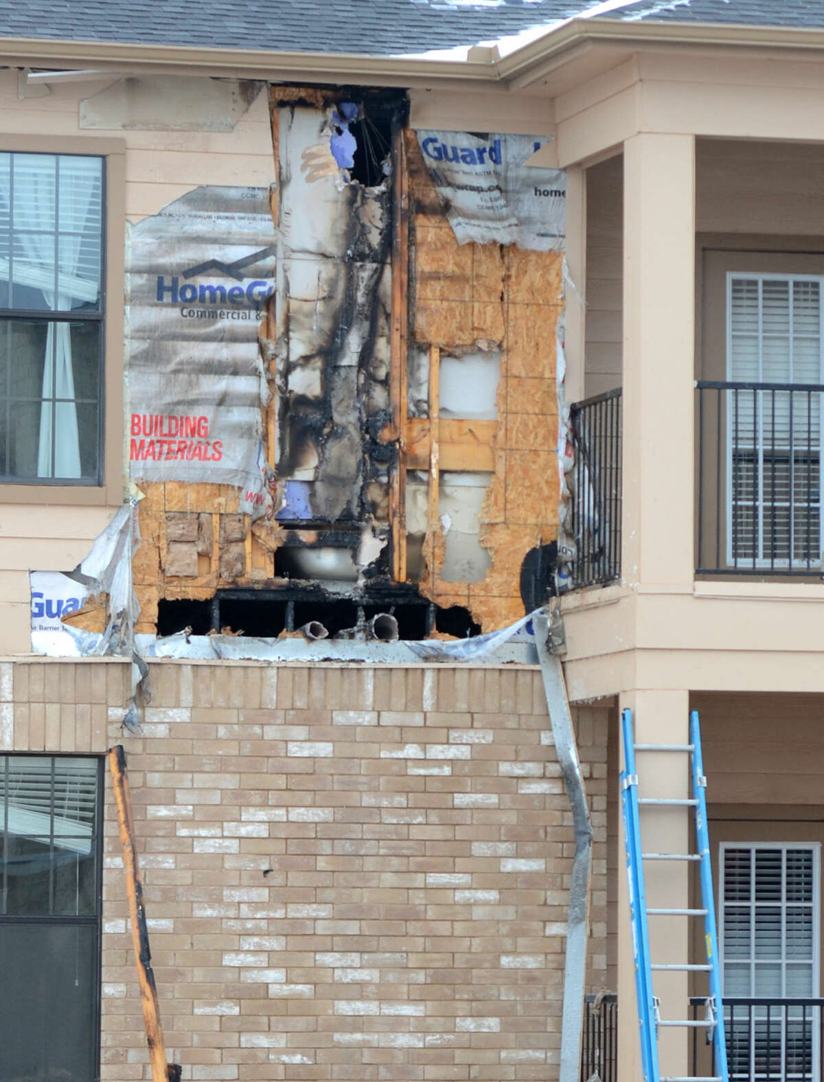 A fire at Mesquite Terraces involved two apartment units Friday, Feb. 27, 2015, and the cause is currently under investigation. James Durbin/Reporter-Telegram