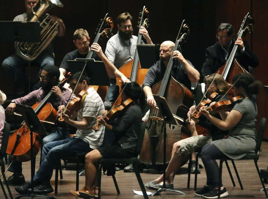 The San Antonio Symphony rehearses in April 2016 at The Tobin Center for the Performing Arts. A reorganization of the organization shows promise. Photo: John Davenport /San Antonio Express-News / ©San Antonio Express-News/John Davenport