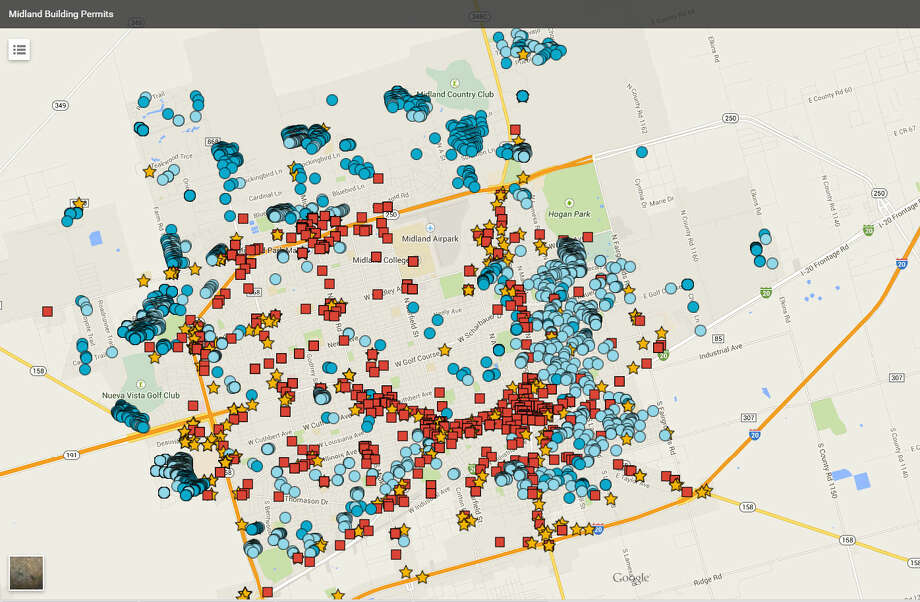 Click here to view the interactive map of building permits.