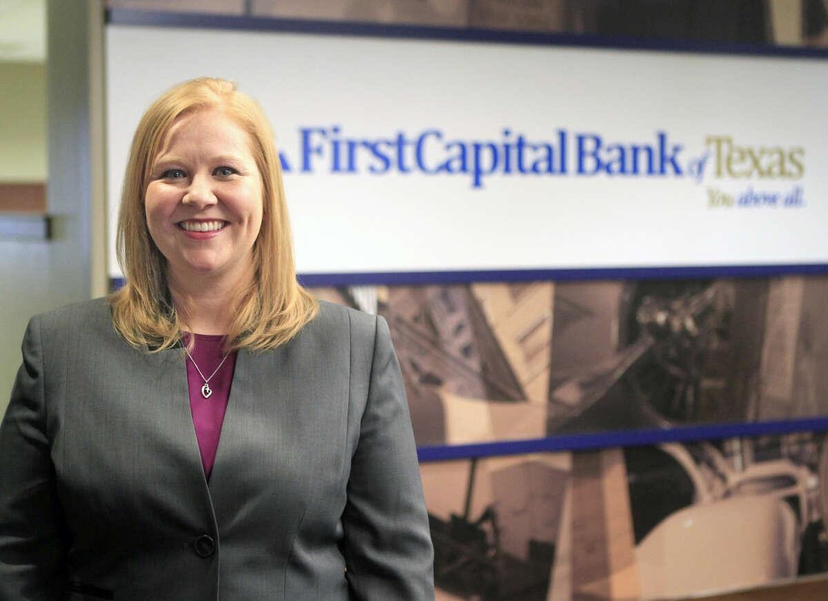 Katie Boyd, senior VP of training and marketing at First Capital Bank, in portrait on Feb. 26, 2015. James Durbin/Reporter-Telegram