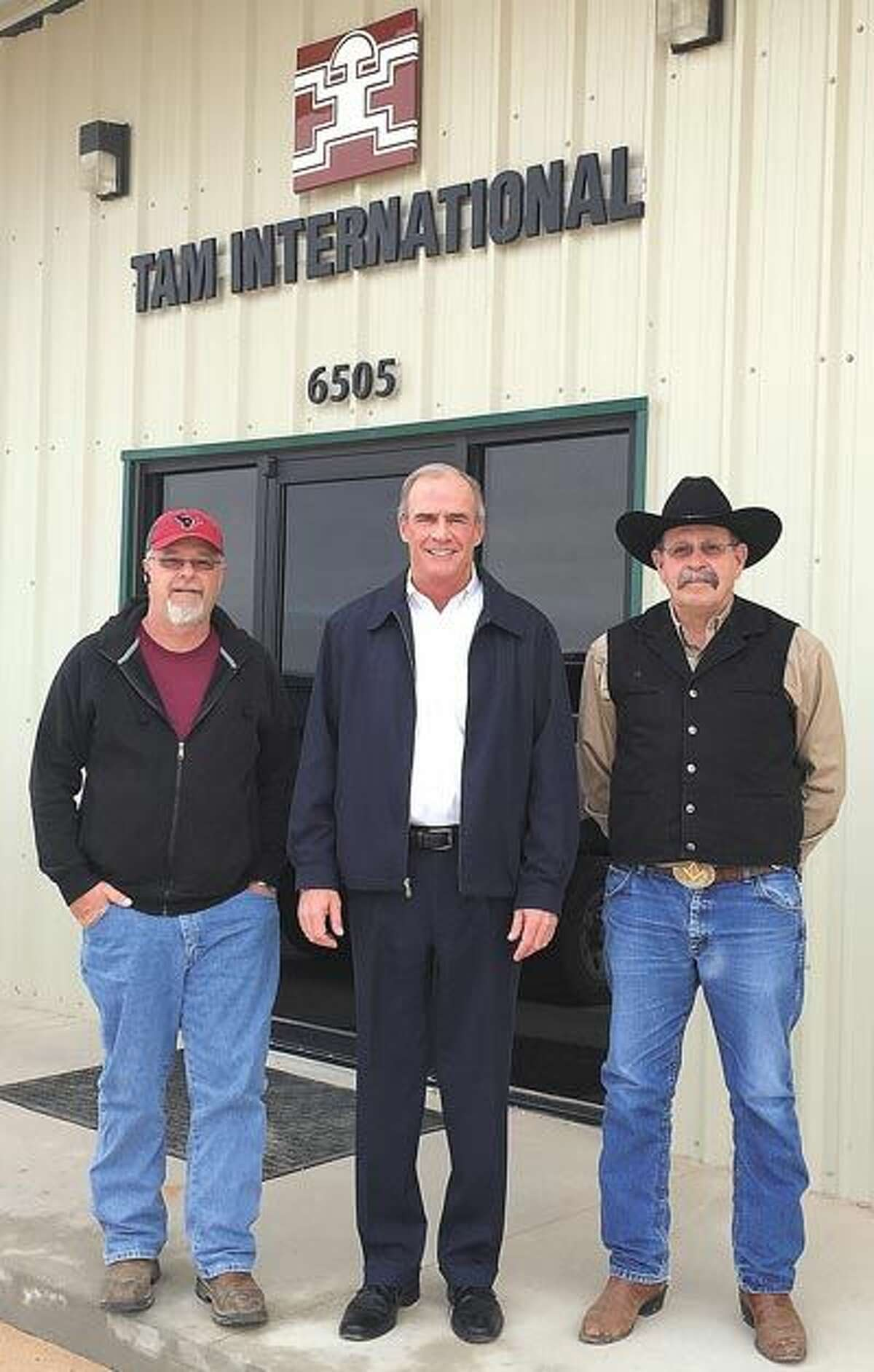 TAM International's experienced leadership team offers individualized solutions for Permian Basin operators. From left, they are: Operations Manager B. A. Perryman, General Manager Tom O' Grady and Technical Sales Representative Ken Newton.