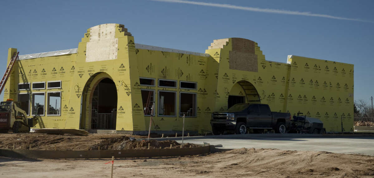 Work continues on a new Taco Villa restaurant next to the old one at the corner of Andrews Hwy and Midland Drive Friday 01-29-16. Tim Fischer/Reporter-Telegram