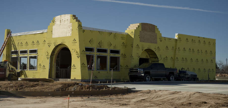 Work continues on a new Taco Villa restaurant next to the old one at the corner of Andrews Hwy and Midland Drive Friday 01-29-16. Tim Fischer/Reporter-Telegram Photo: Tim Fischer