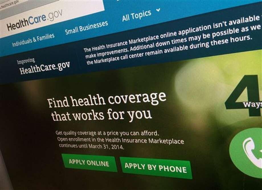 Healthcare.gov Photo: Jon Elswick / AP