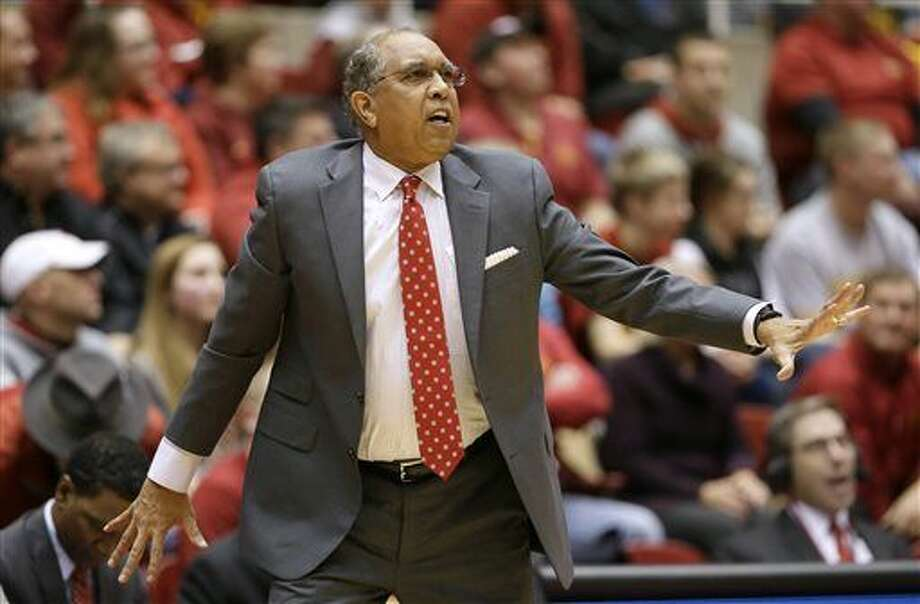 FILE - In this Jan. 6, 2016 file photo, Texas Tech coach Tubby Smith talks to his team during the first half of an NCAA college basketball game against Iowa State, in Ames, Iowa. Memphis has hired Tubby Smith as its new men's basketball coach, choosing to go with a veteran to get the Tigers back to the NCAA Tournament. The university announced the hire Thursday, April 14, 2016, on its athletic department's website. (AP Photo/Charlie Neibergall) Photo: Charlie Neibergall