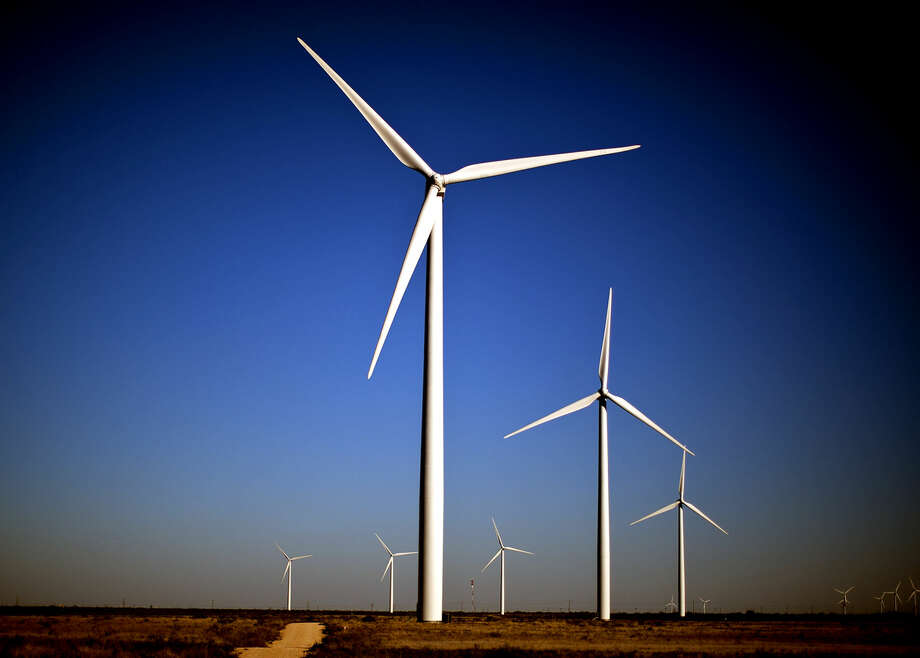 Wind turbines in action Tuesday, Oct. 27, 2015, north of Stanton, Texas. James Durbin/Reporter-Telegram Photo: James Durbin