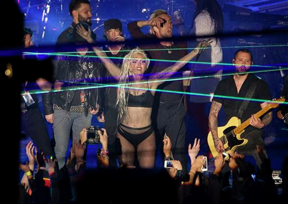 Lady Gaga performs at Stubb's in Austin, Texas, during the South by Southwest Music Festival on Thursday March 13, 2014. (AP Photo/Austin American-Statesman, Jay Janner) Photo: Jay Janner / Austin American-Statesman